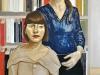Se fosse un ritratto di famiglia, 2012, olio e collage su tela, cm 165x100.